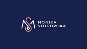 Elegant logo design on blue background